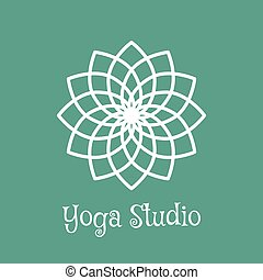 Yoga Studio Vector Logo Template - Yoga ornamental emblem....