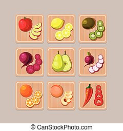Delicious Vegetables - A set of delicious vegetables on...