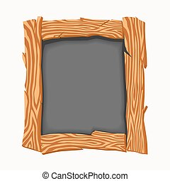 school board. - Wooden school board. Vector illustration
