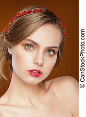Pure Beauty. Face of Young Beautiful Woman