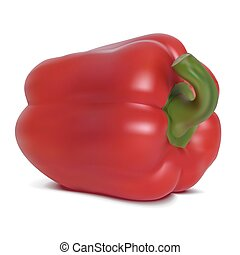 Photo-realistic vector. Red sweet pepper