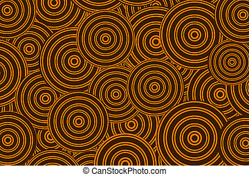 orange-brown circles - background with a large orange-brown...