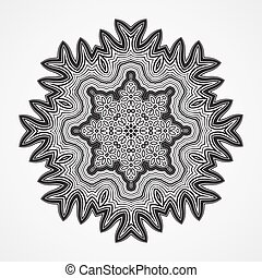 Ethnic Fractal Mandala Vector Circle Meditation Tattoo