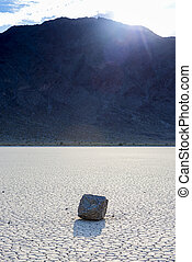 Racing Stones at The Racetrack Playa in Death Valley...