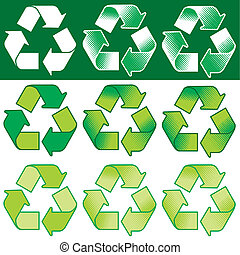 Recycling Symbol vector - Vector recycling symbol with...