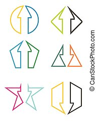 Shape with arrows