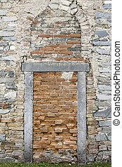 Bricked Up Door - Holy Trinity Church in Zahorany village is...