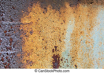 Chipped Paint On Rusty Metal - Detail of the old rusty metal...