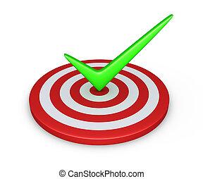 Tick on target