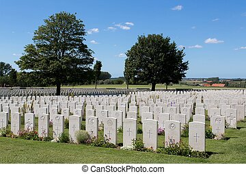 Tyne Cot World War One Cemetery, the largest British War...