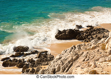 Sea of Cortez - Shoreline of Sea of Cortez, Cabo San Lucas,...