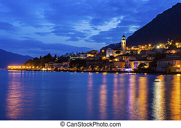 Limone sul Garda in Italy - Limone sul Garda on the shore of...
