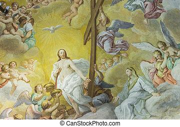 Renaissance pianting - A colorful Italian Renaissance fresco...