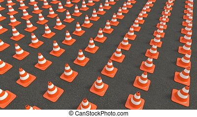 Traffic cones tracking - Traffic cones in series Tracking...