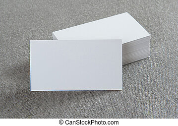 Photo of business cards Mock-up for branding identity For...