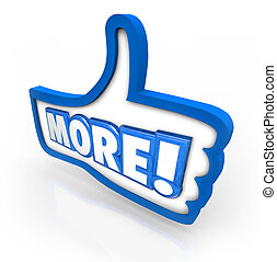 More Thumbs Up Increase Improve Results Approve Added...