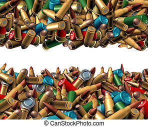 Bullet Ammunition Border - Bullet ammunition border isolated...