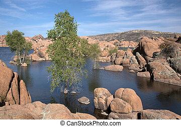 Watson Lake Park, Arizona, USA - Watson Lake at Watson Park...