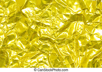 Gold creased paper