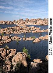 Watson Lake Pak, Arizona, USA - Watson Lake at Watson Park...