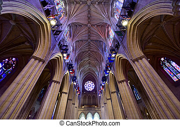 National Cathedral, Washington DC, United States -...