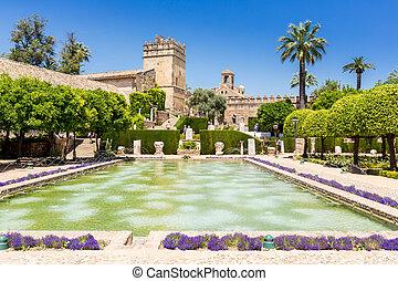 moorish style garden at Cordoba