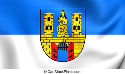 Flag of the Burg bei Magdeburg, Germany. - 3D Flag of the...