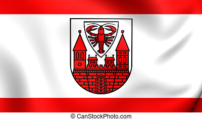Flag of the Cottbus, Germany. - 3D Flag of the Cottbus,...