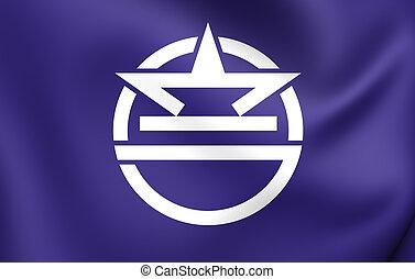 urasoe, bandera, japón