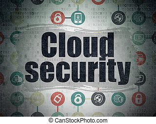 Privacy concept: Cloud Security on Digital Paper background