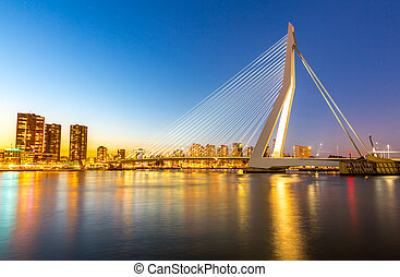Erasmus bridge Rotterdam - Erasmus bridge over the river...