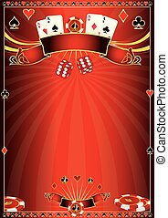 Red Casino poster - A red poster for your poker tournament