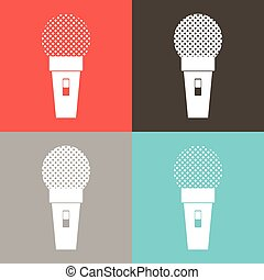 Microphone icon, classic microphone