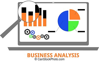 vector - business analysis - An illustration showing a...