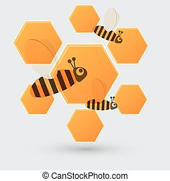 Honey and bee icon