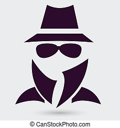 Man in suit Secret service agent icon