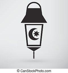 Islam symbol isolated on white background