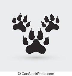 footprints illustration.
