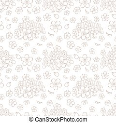 Seamless simple floral pattern - Seamless abstract simple...