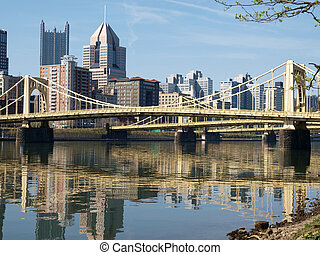 Downtown Pittsburgh - Big bridges in downtown Pittsburgh...