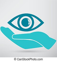 Eye Protection or Eye Doctor Concept Illustration