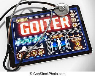 Goitre, sur, les, exposer, de, Monde Médical, Tablet.,