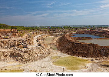 Big open pit on mining