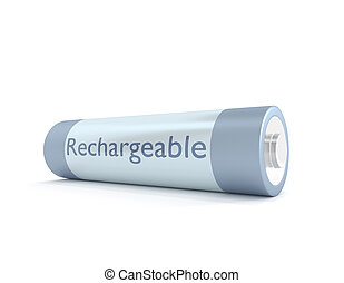 Rechargeable battery. - Illustration depicting a single...