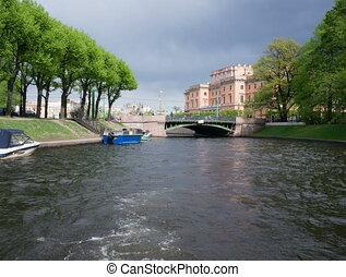 Russia, St. Petersburg, Boat trip on the St. Petersburg...