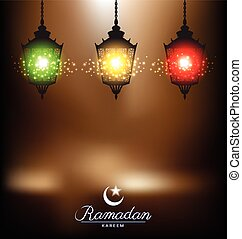 Bright lamp for ramadan festival