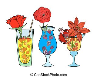 Tropical Love cocktail - Set of Tropical Love cocktail....