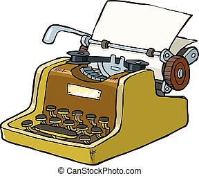 Typewriter on a white background vector illustration