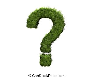 Question mark   - grass question mark