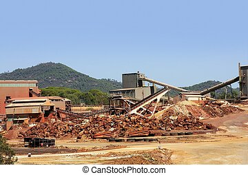 Excavation metal outdoor mine Riotinto in Spain